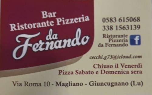 Bar Ristorante Pizzeria da Fernando