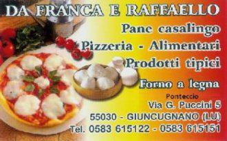 Da Franca e Raffaello - Pizzeria Alimentari Prodotti tipici
